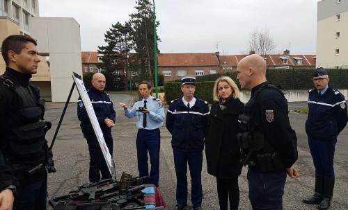 Déplacement à la Gendarmerie