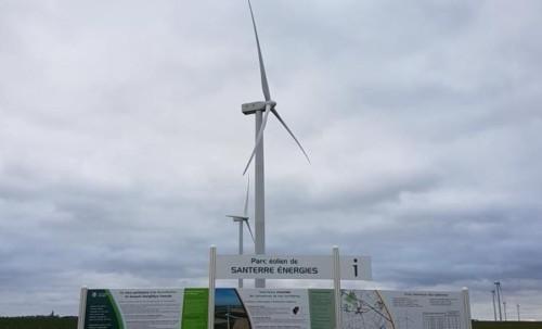 Visite de parc éolien