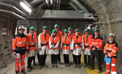 Visite de sites de gestion de déchets radioactifs