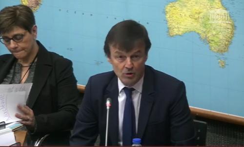 Audition de Nicolas Hulot pour la Commission d'enquête sur la sûreté et sécurité des installations nucléaires