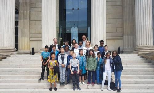 La classe du Parlement des Enfants à l'Assemblée