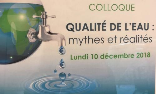 Colloque sur la qualité de l'eau