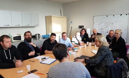 Rencontre avec les syndicats de cheminots à Amiens