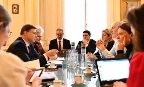 Réunion sur le Greendeal avec le vice-président de la commission européenne