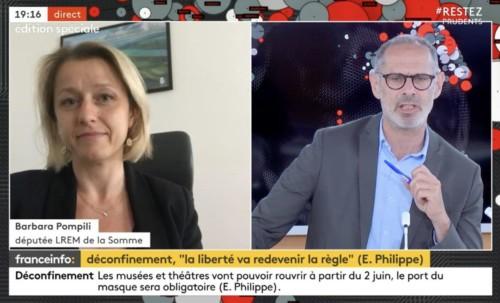 Invitée de France Info pour parler du déconfinement