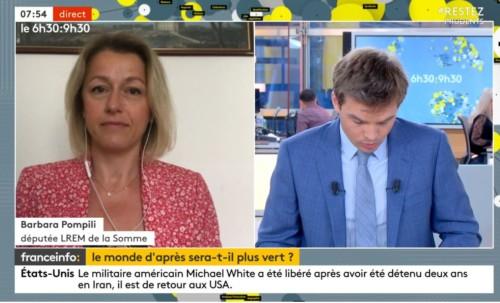 Invitée de France Info sur la relance verte