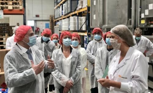 Santé au travail : déplacement de Laurent Pietraszewski à Boves