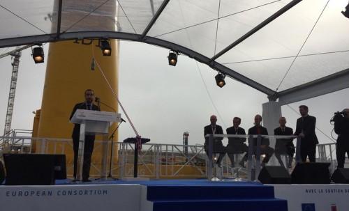 Inauguration de la première éolienne flottante de France