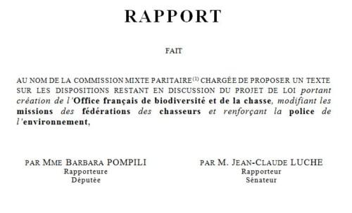 CP - Projet de loi créant l'Office français de la biodiversité