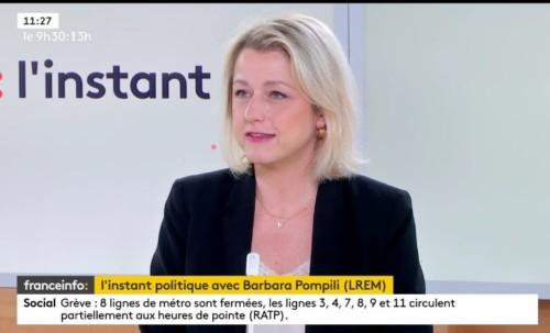 Passage sur le plateau de France Info