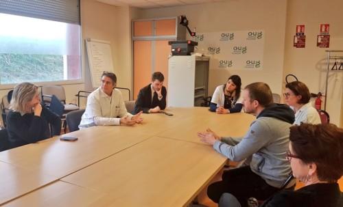 Déplacement au pôle cancérologie du CHU d'Amiens