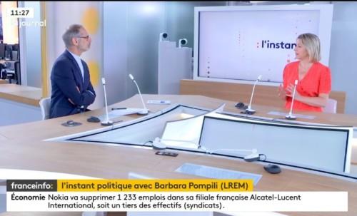 Invitée de l'instant politique sur France Info
